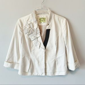 Anthropologie Floreat Origami Cropped Blazer 4